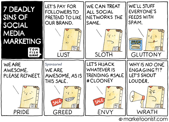 7 Sins of Social Media Marketing