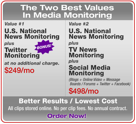 Two Best Values in Media Monitoring