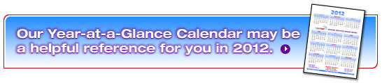 Our Year-at-a-Glance Calendar�may be 