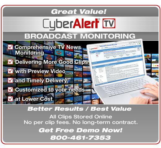 CyberAlert Broadcast Monitoring