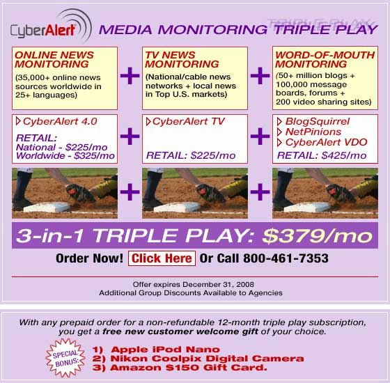 Media Monitoring Triple Play