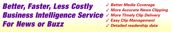 Better, Faster, Less Costly Business Intelligence Service For News or Buzz