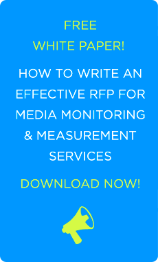 rfp for media monitoring and pr measurement
