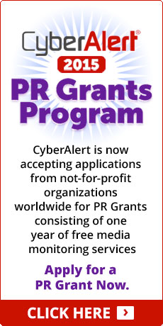 CyberAlert 2015 PR Grants Program